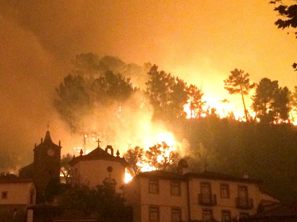 Devastação dos incêndios
