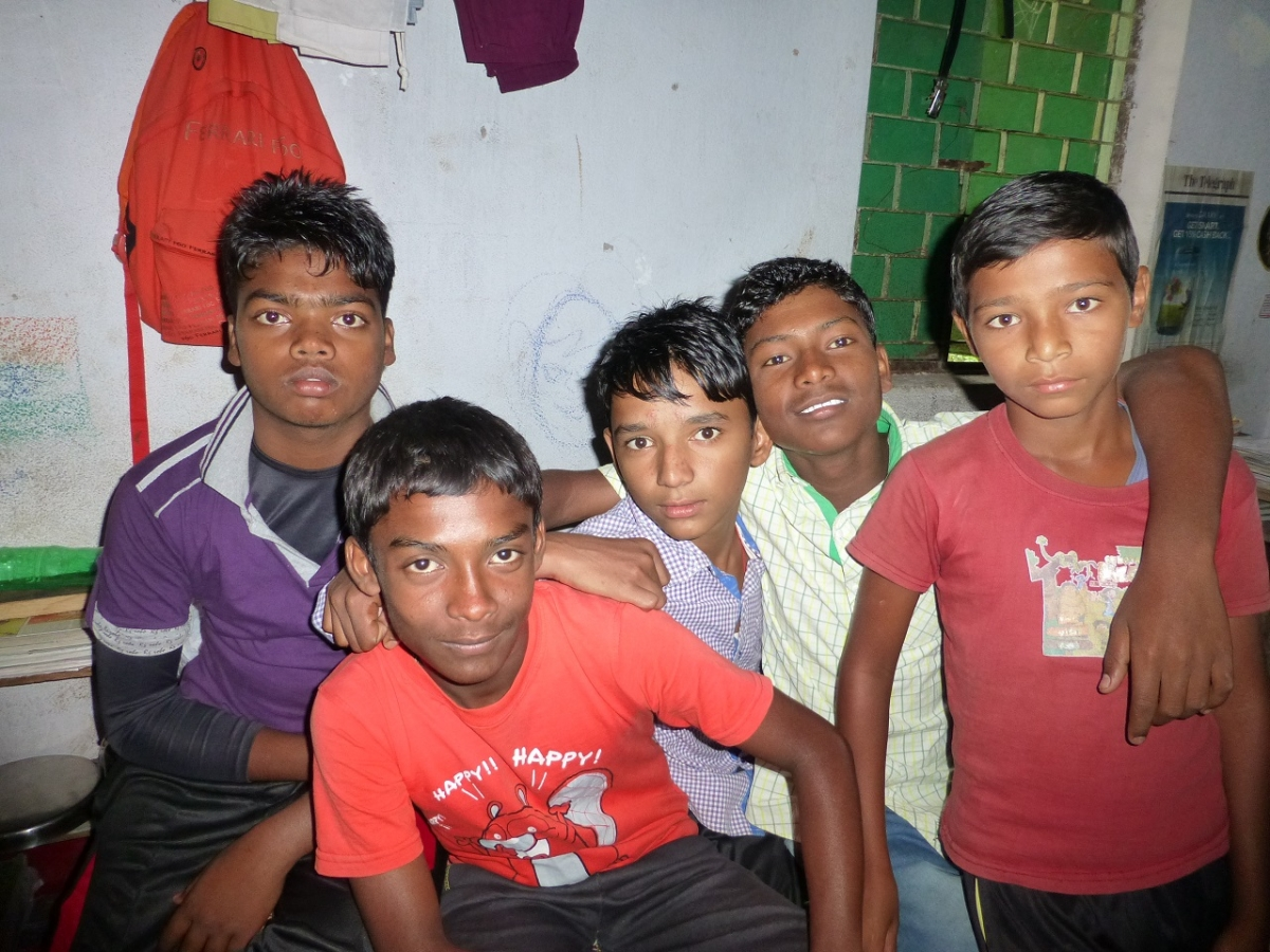 Kishore with his friends in the hostel
